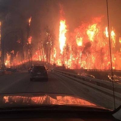 Пожар в Канаде