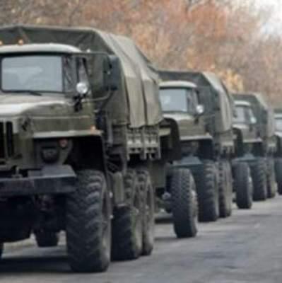 На оккупированный Донбасс из России въехало 70 грузовиков с боеприпасами