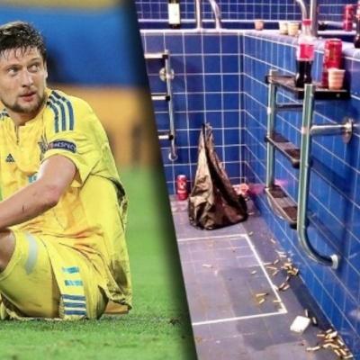 В раздевалке сборной Украины нашли окурки и пиво - (ФОТО)