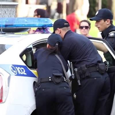 Киевская полиция задержала пьяного водителя (видео)