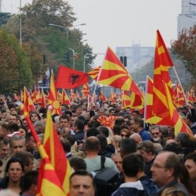 В Македонии тысячи людей вышли на антиправительственные протесты