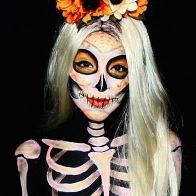Талант и креатив: 27 потрясающих идей макияжа на Хэллоуин (фото)