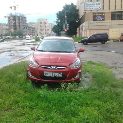 В Киеве разработали парковку на газоне
