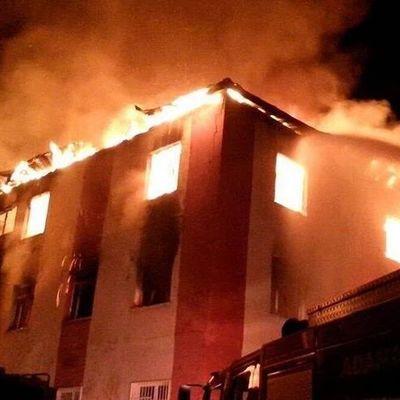 Страшный пожар в турецком общежитии привел к гибели 12 человек (Видео)