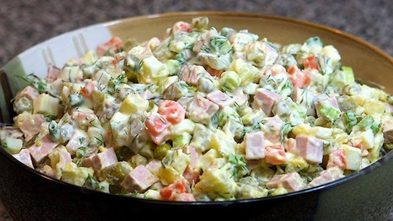 Новый рецепт салата оливье с