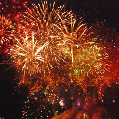 Появились яркие видео празднования Нового года в Киеве