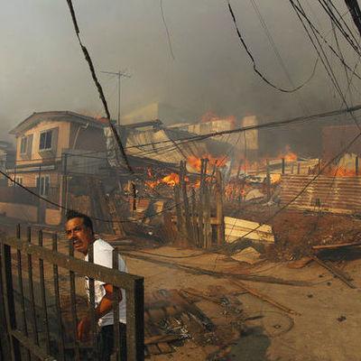 В Чили объявлен красный уровень опасности из-за природного пожара