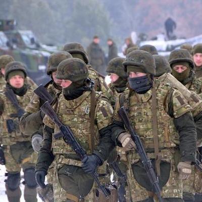 Под Киевом прошли учения бригады быстрого реагирования Нацгвардии (Видео)