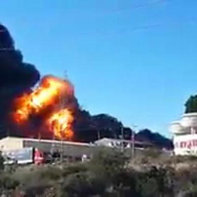 Мощный взрыв произошёл на химзаводе в Валенсии