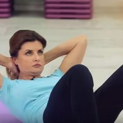 Первая леди Украины продемонстрировала как нужно делать зарядку (видео)
