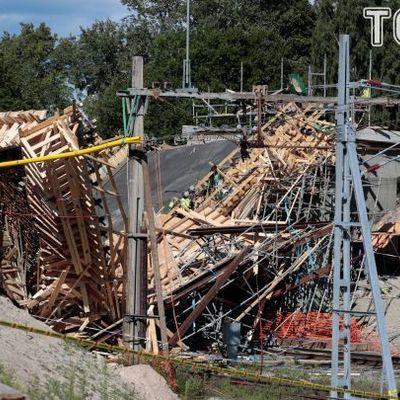 В Швеции обрушился железнодорожный мост (фото)