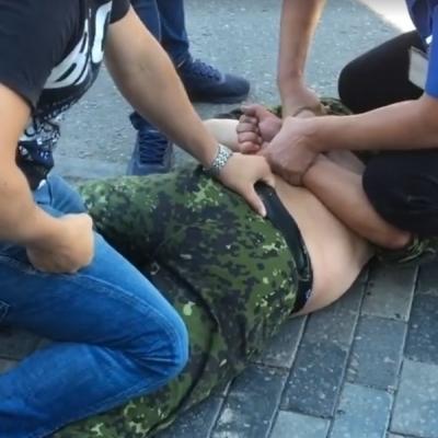 В Днепре бойца АТО побили в супермаркете (видео)