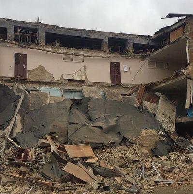 В школе в Василькове, где произошел обвал, никто не пострадал