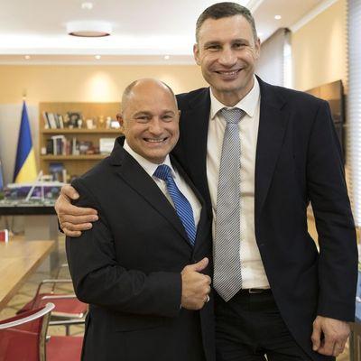 Виталий Кличко и Райнер Бомба обсудили привлечение инвестиций в киевский мост