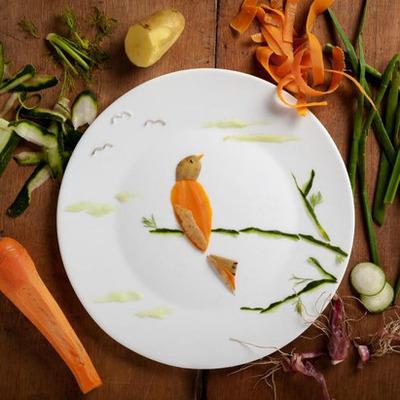 Американская художница создает удивительные картины из еды (фото)