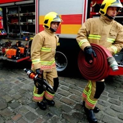 В Житомире загорелось управление полиции (фото)