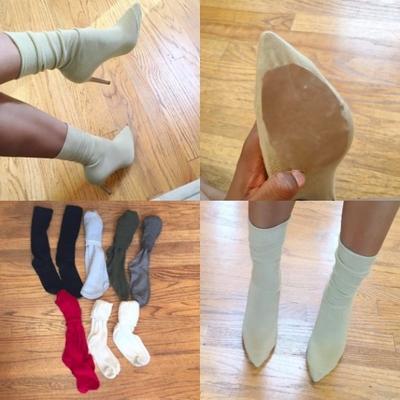 Девушки создали новый тренд - носки поверх туфель (фото)