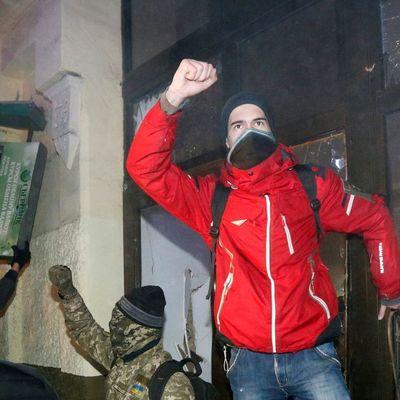 Как громили «Сбербанк» в Киеве (Видео)