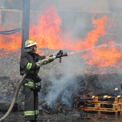 На киевском рынке случился пожар