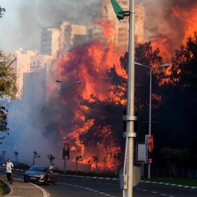 Украинские самолеты приступили к тушению лесных пожаров в Израиле (Видео)