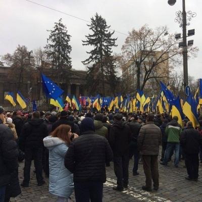 Саакашвили собрал в Киеве тысячи людей (фото)