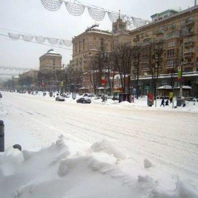 В центре Киева ограничено движение транспорта