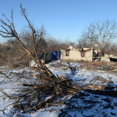 В Донецке взорвался микроавтобус
