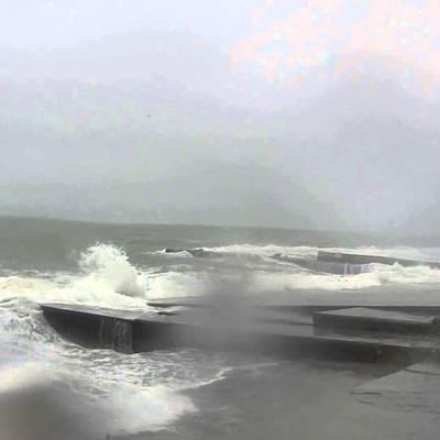Опубликовано видео снежного шторма, который бушует в Одессе (Видео)