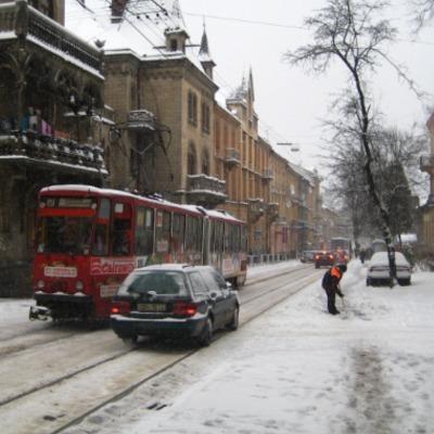 Во Львове не выехало 80% городского транспорта