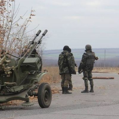 В районе Тарамчука произошло боевое столкновение - штаб АТО