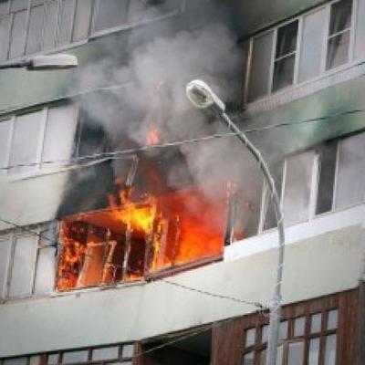 В Днепровском районе произошел пожар в многоэтажном доме