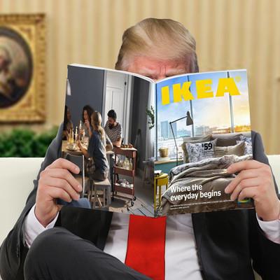 Немецкие дизайнеры нарисовали проект «Стены Трампа» в стиле чертежей IKEA (фото)