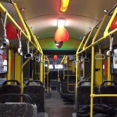 Киевский транспорт украшают сердечками ко Дню святого Валентина