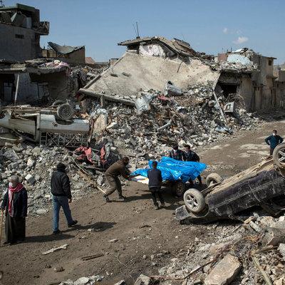 В следствии ракетного удара по Мосулу погибло более 80 гражданских
