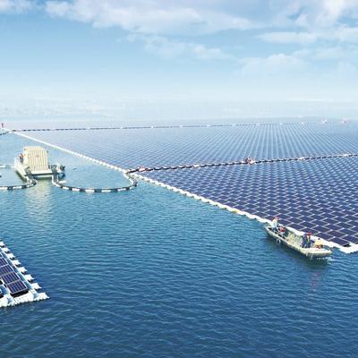 Китай запустил крупнейшую в мире плавающую солнечную электростанцию