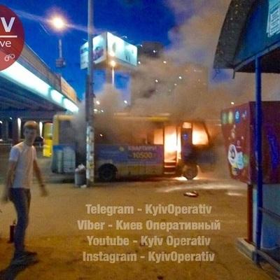 В Киеве произошло очередное опасное ЧП с маршруткой (фото)