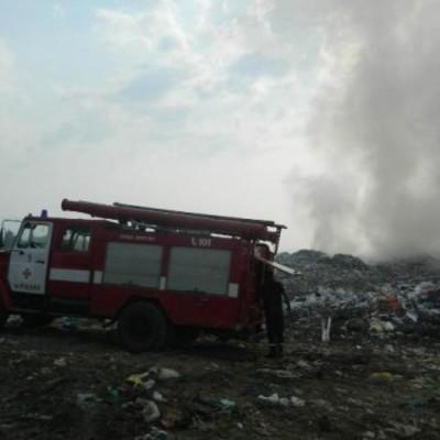 На Закарпатье горит мусорная свалка