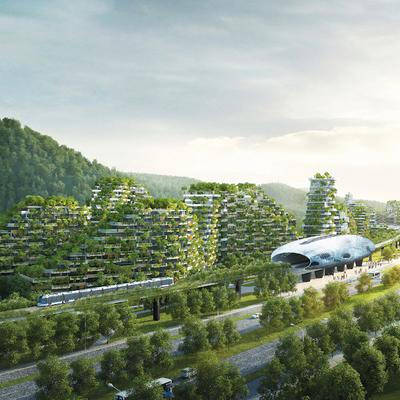 В Китае построят первый в мире вертикальный «город-лес»