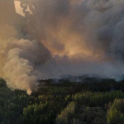 В Чернобыльской зоне продолжается тушение пожаров
