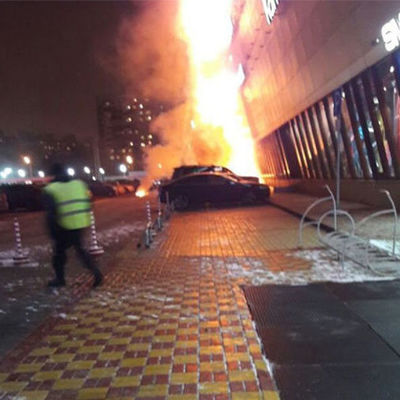 В московском ТЦ в результате пожара 11 человек попали в больницу (видео)