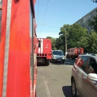 В Одессе горит ТЦ «Пятый элемент» (фото)