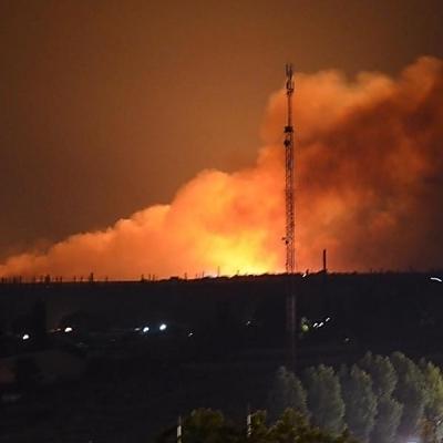 Под Николаевом сильный пожар: зарево видно из центра города (видео)