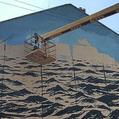 В Киеве рисуют мурал с Черным морем