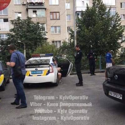 В столице избили патрульного при исполнении (Фото)