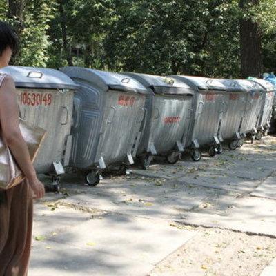 Появилась возможность в Киеве убрать от дома баки с мусором