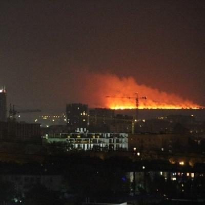 Страшный пожар на Левом берегу Днепра