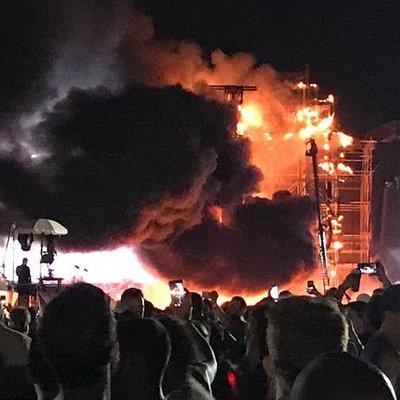В Барселоне во время музыкального фестиваля Tomorrowland вспыхнул пожар (фото, видео)