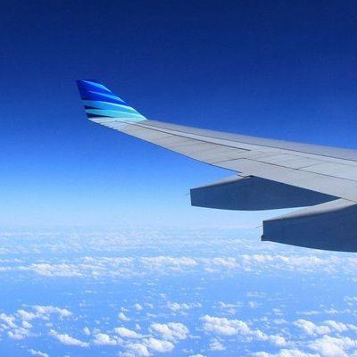 В США самолет рисует свой силуэт в небе