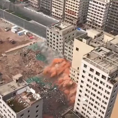 Реновация по-китайски: 36 высоток снесли за 20 секунд (видео)