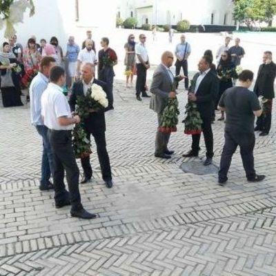 Попрощаться с погибшей экс-нардепом Бережной пришли Лобода и Фреймут (фото)